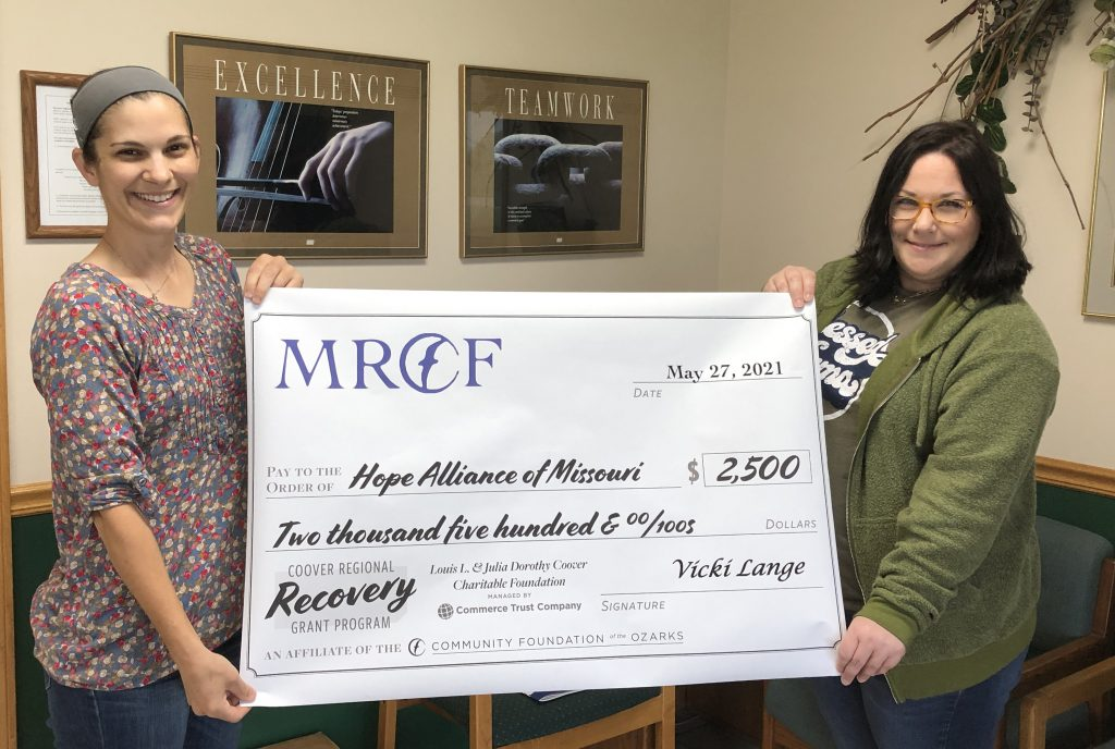 Hope Alliance receives grant